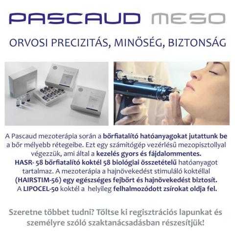 Pascaud tavaszi anti-aging programok: Pascaud Mezoterápia & Marmatrix Mask